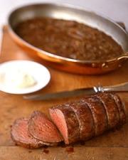Beef Tenderloin with Shallot Mustard SaucePhoto:  Martha Stewart