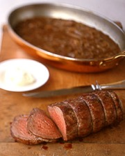 Beef Tenderloin with Shallot Mustard SaucePhoto:  Martha Stewart