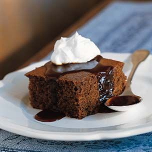 Ginger Cake with Warm Caramel Sauce~ Williams-Sonoma