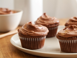 Chocolate Double Feature Cupcakes with Mexican Hot Chocolate Frosting