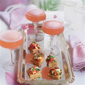 Fresh and Seasonal Champagne and Rhubarb Cocktail