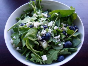 Alida's Kitchen's Balsamic Blueberry Salad.  Delicious!