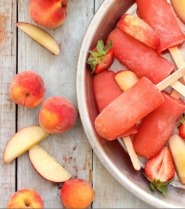 Strawberry Peach Vodka Popsicles by EndlessSimmer