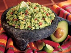 Guacamole ~ cut or mash the avocados as large or small as you wish