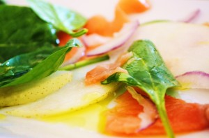 Smoked Salmon and Pear Salad