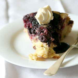 Blackberry and Apple Cake Photo by: James Oseland
