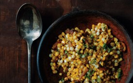 Corn with Bacon and Miso Butter  Photo by: Romula  Yanes