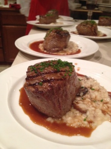 Filet Mignon with Risotto