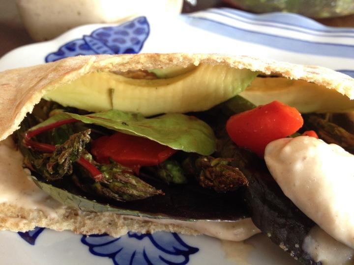 Black garlic veggy wrap