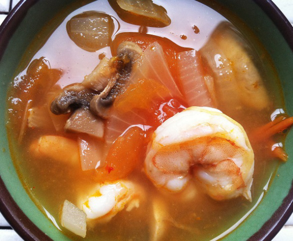 Thai Spicy and Sour Soup with Shrimp | Cooking with a Wallflower