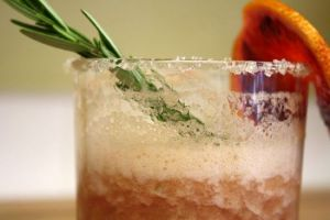 Fizzy Rosemary Rhubarb Cocktail