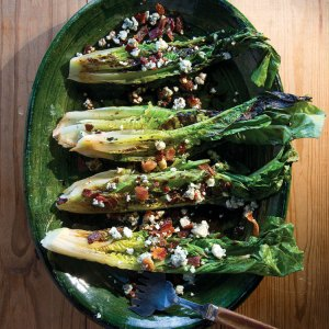 Grilled Romaine Salad with Blue Cheese and Bacon Photo: Penny De Los Santos/Saveur Magazine