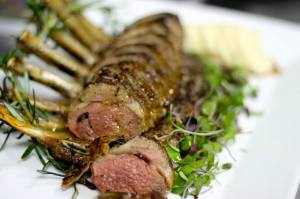Herb & Spice Crusted Rack of Lamb with Mint Chutney