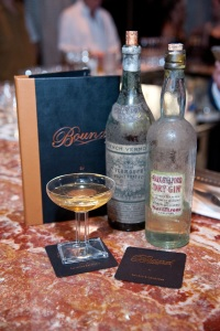The world's oldest martini, made with Park & Tilford unfiltered New York gin circa 1900 and Noilly Prat vermouth circa 1890. © PATRICK GRAY/ Kabik Photo Group