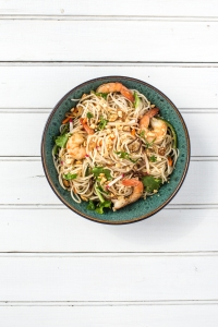 Lemongrass-Scented Rice Noodle Salad with Mint and Cilantro
