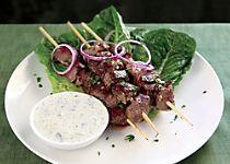 Lamb & Eggplant Kebabs with Baharat
