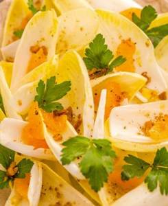 BELGIAN ENDIVE SALAD WITH WALNUTS & CLEMENTINES BY GRAHAM ELLIOT