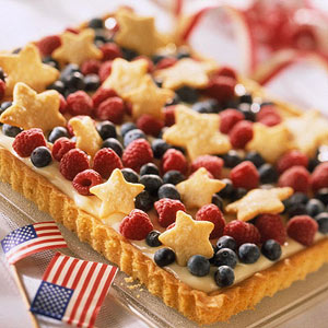 Red white and blue tart
