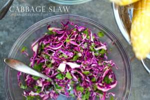 Cabbage Slaw / Fish Tacos
