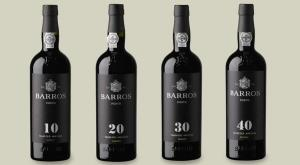The lineup of Barros' aged tawny Ports.