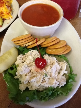 Mammy's Chicken Salad with scratch vegetable soup