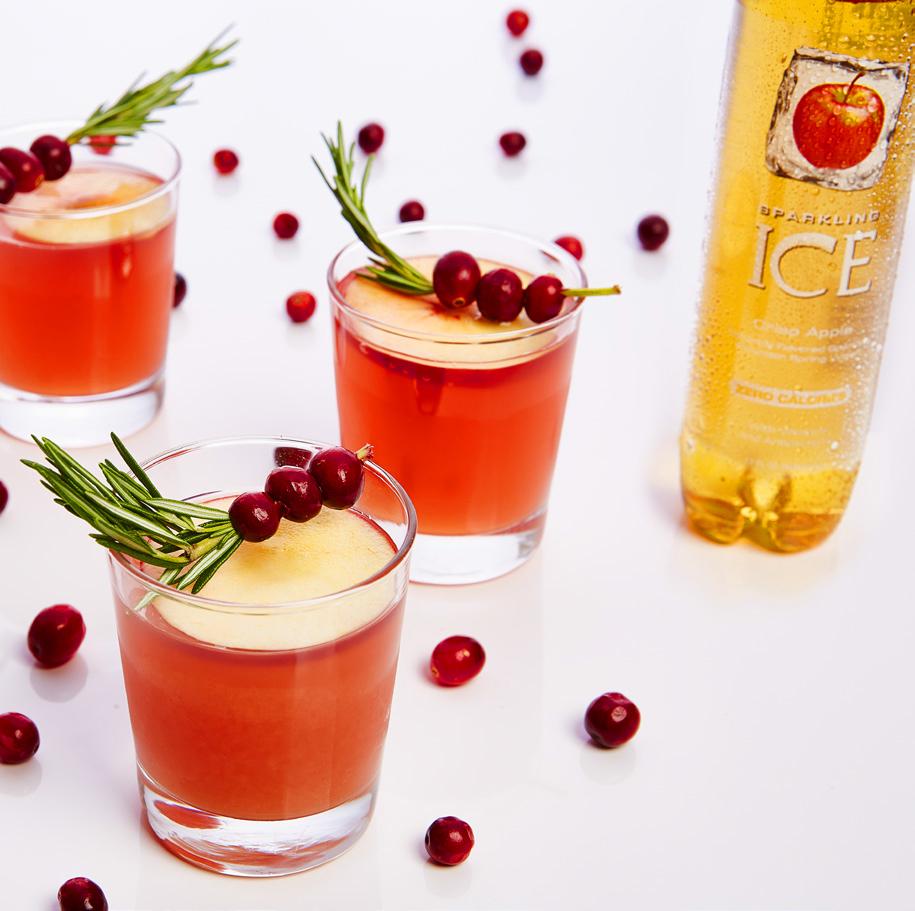 sparkling ice cranberry-apple cider punch