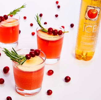 sparkling ice cranberry-apple cider punch