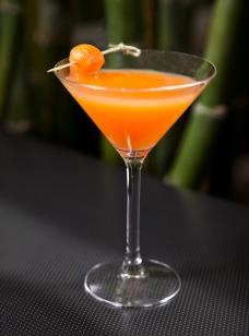 Cantaloupe Martini from jade bar at Sanctuary on Camelback Mountain