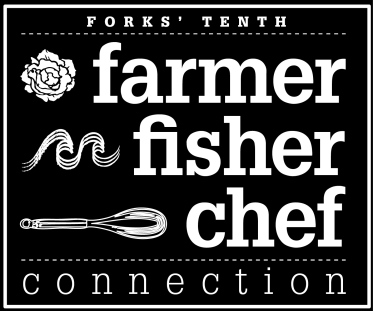 farmer fisher chef logo