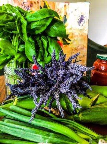 Basil and Lavender