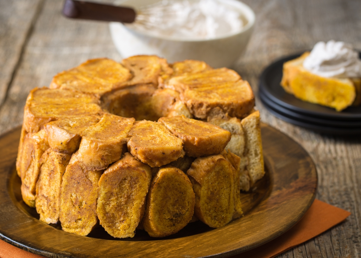Chef Jeff Anderson's Pumpkin Bread Pudding with Pumpkin Spice Whipped Cream