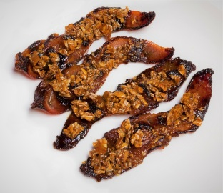 Chef Adrianne's Ghost Pepper Candied Almond Bacon