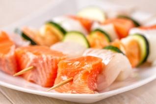Seafood Skewers Uncooked