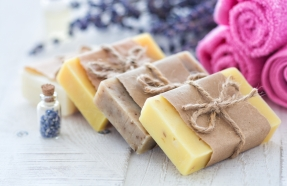 wrapped soap bars