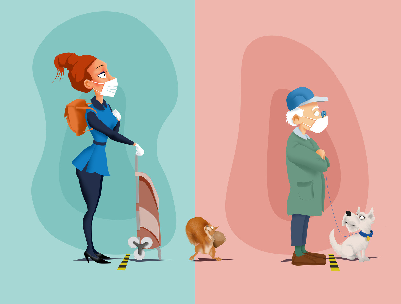 social distance illustration II